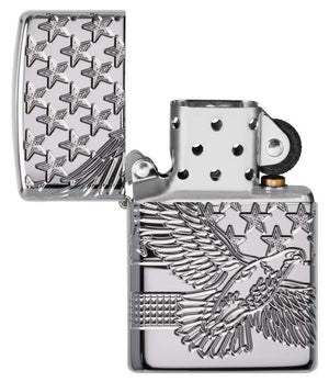 Zippo Lighter - Patriotic Design