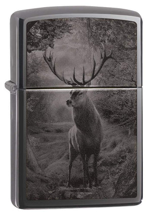 Zippo Lighter - Deer Black Ice