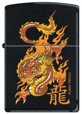 Zippo Lighter - Oriental Dragon Black Matte
