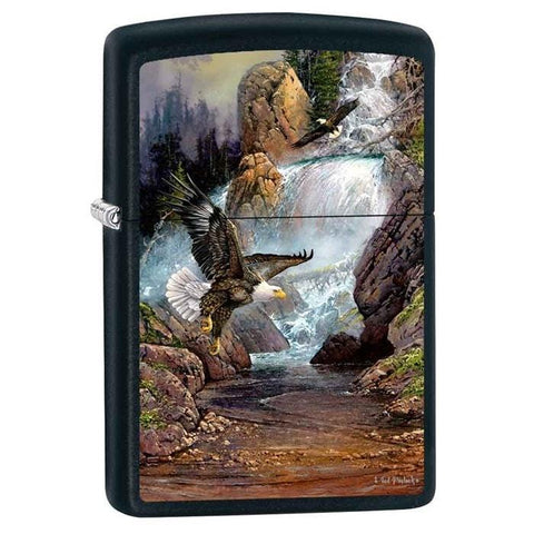 Zippo Lighter - Cascade Eagle by Blaylock Black Matte - Lighter USA - 1