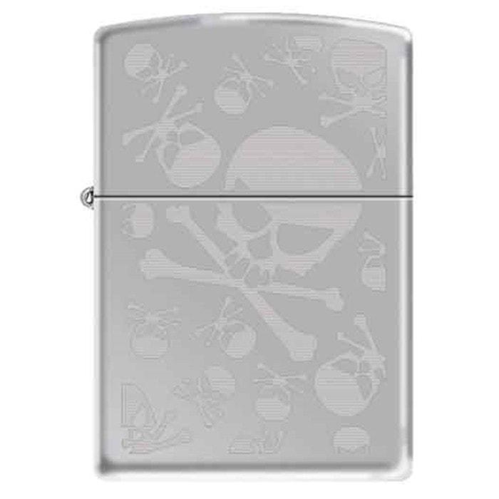 Zippo Lighter - Skulls High Polish Chrome - Lighter USA - 1