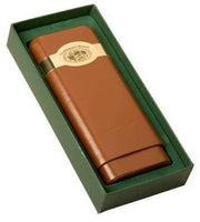 Craftsman's Bench - Leather 3 Churchill Cigar Case Tan - Lighter USA