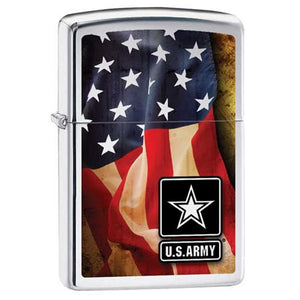 Zippo Lighter - US Army Flag
