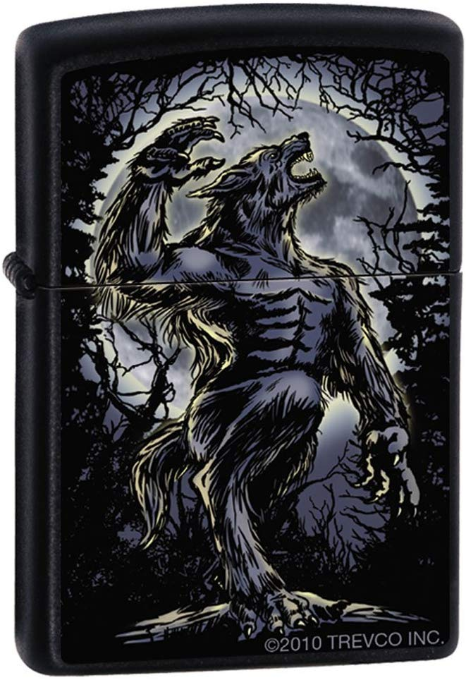 Zippo Lighter - Wolf Howling at the Moon