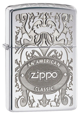 Zippo Lighter - American Classic High Polish Chrome - Lighter USA - 1