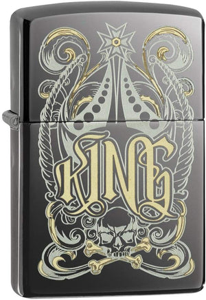 Zippo Lighter - King in Black Ice