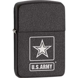 Zippo Lighter - Black Crackle US Army Logo 1941