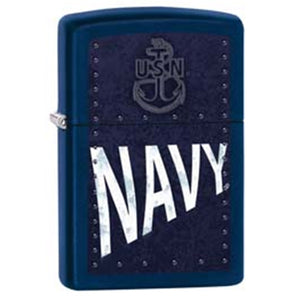 Zippo Lighter - U.S Navy Rivets in Navy Matte
