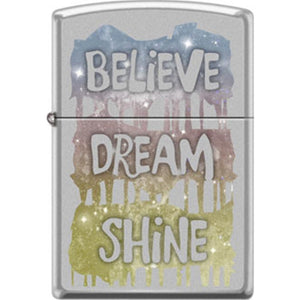 Zippo Lighter - Believe Dream Shine
