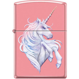 Zippo Lighter - Unicorn on Pink