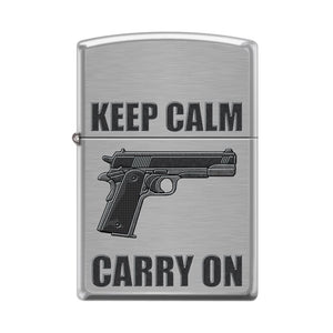Zippo Lighter - Keep Calm Carry On