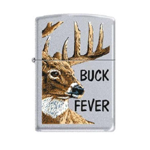 Zippo Lighter - Buck Fever Satin Chrome - Lighter USA
