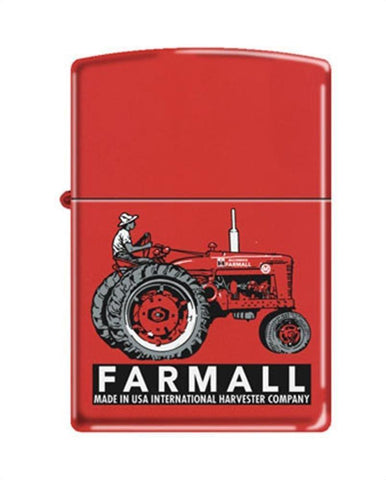 Zippo Lighter - Farmall Super M Red Matte - Lighter USA