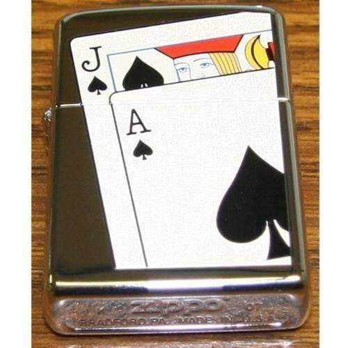 Zippo Lighter - Black Jack - Lighter USA