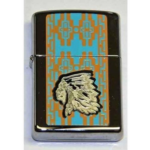 Zippo Lighter - Chief High Polish Chrome - Lighter USA