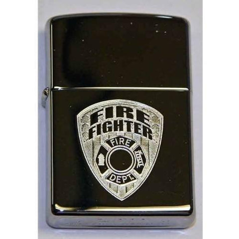 Zippo Lighter - Firefighter High Polish Chrome - Lighter USA
