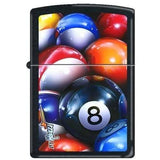 Zippo Lighter - Mazzi 8-Ball Black Matte - Lighter USA