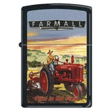 Zippo Lighter - Farmall -  First In The Field Black Matte - Lighter USA
