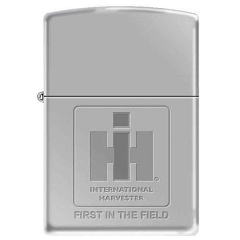Zippo Lighter - IH Logo First In The Field High Polish Chrome - Lighter USA