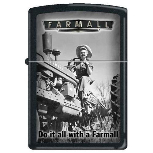 Zippo Lighter - Do It All With A Farmall Black Matte Lighter Zippo - Lighter USA