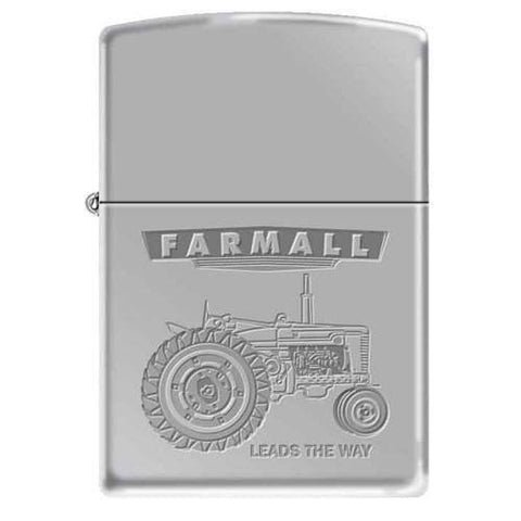 Zippo Lighter - Farmall - Leads The Way - High Polish Chrome - Lighter USA