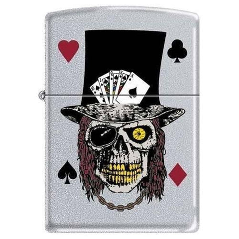 Zippo Lighter - Skull with Top Hat - Lighter USA