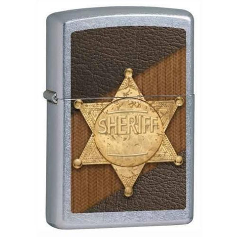 Zippo Lighter - Sheriff Street Chrome - Lighter USA