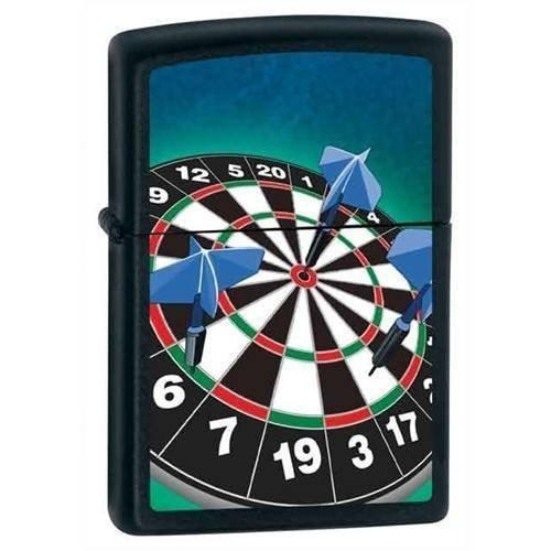 Zippo Lighter - Dartboard Black Matte - Lighter USA