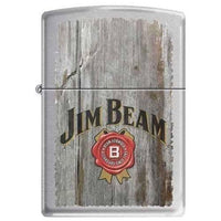 Zippo Lighter - Jim Beam Brushed Chrome