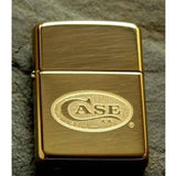 Zippo Lighter - Case Double Lustre High Polish Brass - Lighter USA