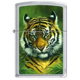 Zippo Lighter - Picken's Tiger Satin Chrome - Lighter USA