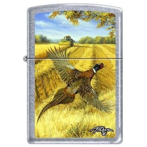 Zippo Lighter - Picken's Pheasant Street Chrome - Lighter USA