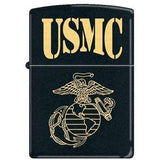 Zippo Lighter - USMC Black Matte - Lighter USA