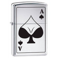 Zippo Lighter - Ace of Spades Bodacious High Polish Chrome - Lighter USA - 1