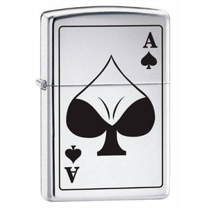 Zippo Lighter - Ace of Spades Bodacious High Polish Chrome