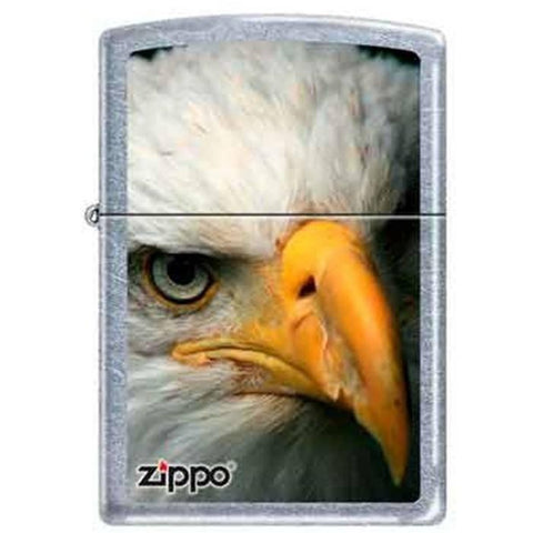 Zippo Lighter - Eagle Head Street Chrome - Lighter USA
