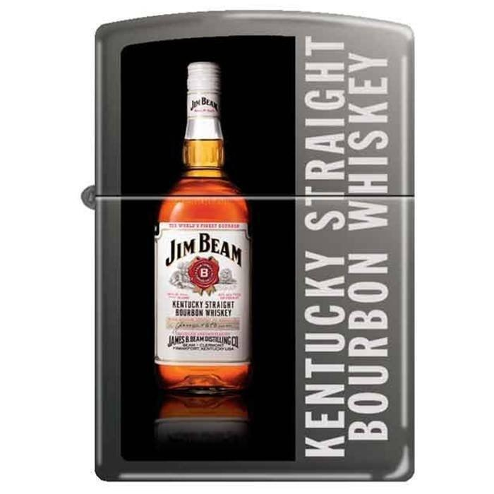 Zippo Lighter - Jim Beam Bottle Black Ice - Lighter USA