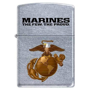 Zippo Lighter - Marines The Few. The Proud. Street Chrome