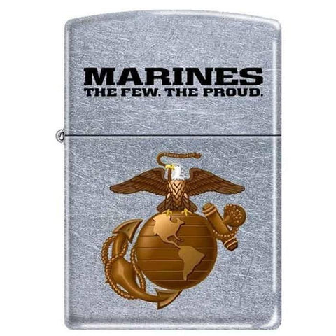 Zippo Lighter - Marines The Few. The Proud. Street Chrome - Lighter USA