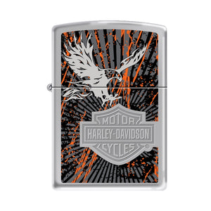 Zippo Lighter - Harley Davidson Eagle High Polish Chrome