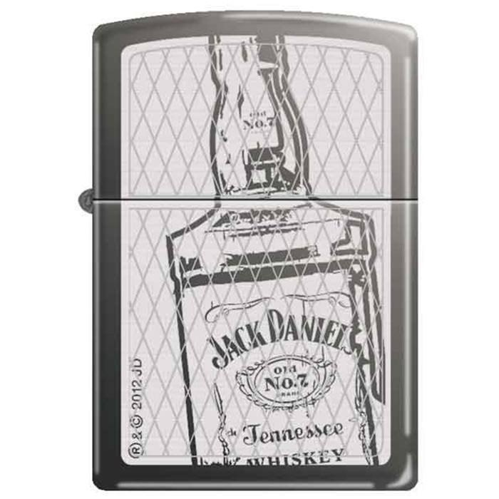 Zippo Lighter - Jack Daniel's Bottle Black Ice - Lighter USA