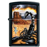 Zippo Lighter - Mazzi Scorpion Black Matte - Lighter USA