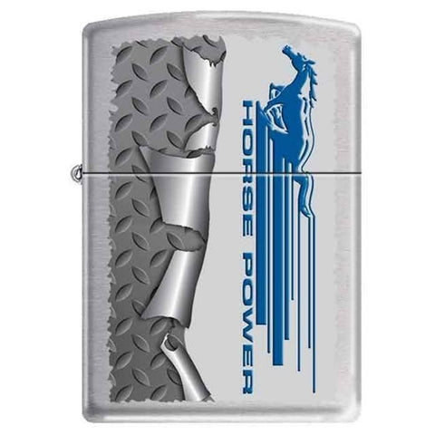 Zippo Lighter - Ford Mustang Rolled Diamondplate - Lighter USA