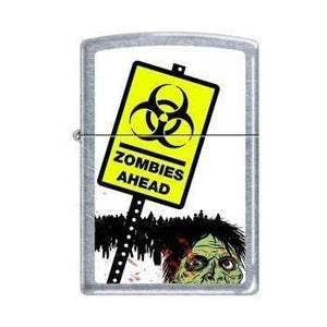 Zippo Lighter - Zombies Ahead Street Chrome