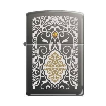 Zippo Lighter - Filigree Topaz Swarovski Black Ice - Lighter USA