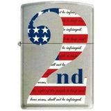 Zippo Lighter - 2nd Amendment Brush Chrome - Lighter USA