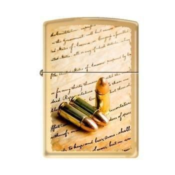 Zippo Lighter - 2nd Amendment High Polish Brass - Lighter USA