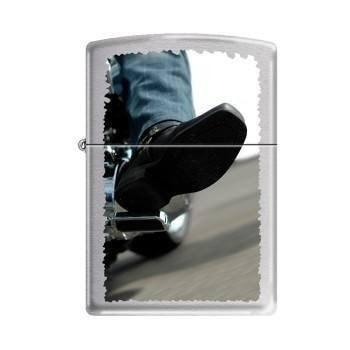 Zippo Lighter - Biker Booth Brushed Chrome - Lighter USA