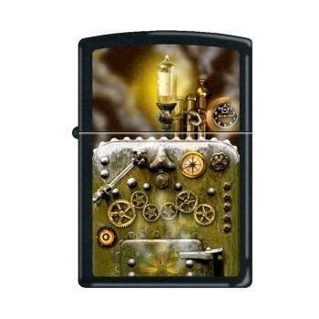 Zippo Lighter - Steampunk Black Matte - Lighter USA