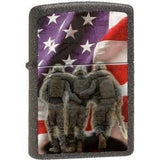 Zippo Lighter - 3 Soldiers No One Get Left Behind Ironstone - Lighter USA